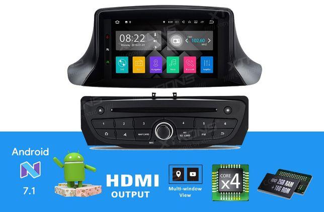 "Rádio Renault Megane 3 Android 7 Quad-Core Ecrã 7"" HD 2GB RAM Wifi GPS"