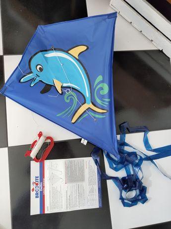 Latawiec z delfinem