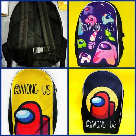 Рюкзак ранец школьный для девочки и мальчика Амонгас Among us роз опт