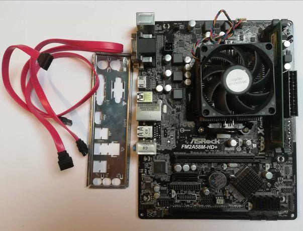 Płyta ASRock FM2A58M-HD+; Procesor AMD A8-6600K 4x3,9GHz; RAM 8GB DDR3