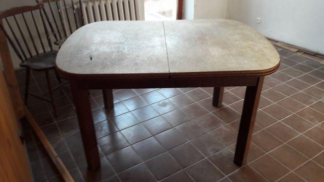 stol drewniany miedzywojenny