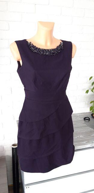 Śliczna śliwkowa sukienka roz 36
