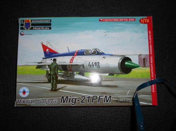 Mig-21 1/72 modele plastikowe KP i Akkura