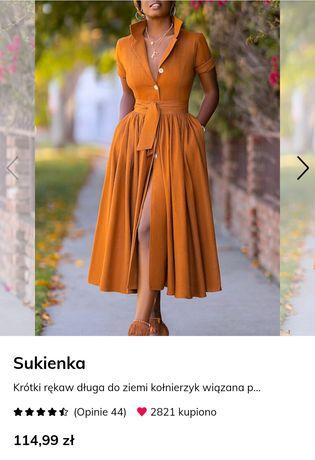 Sukienka rozmiar xl ale w rzeczywistości l