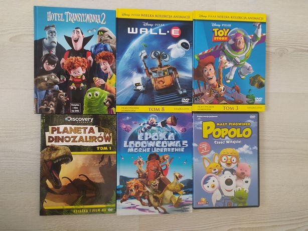 Bajki płyty dvd 6 sztuk
