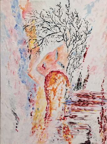 """Картина акрилом на полотні """"Елегія"""". Абстрактний живопис."""