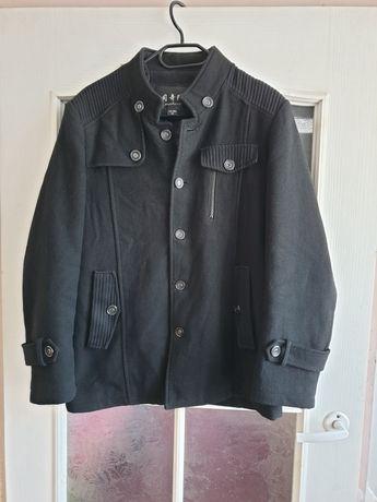 Płaszcz jesienno zimowy M czarny męski