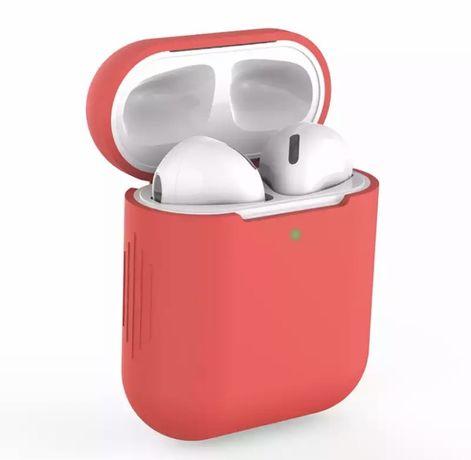 Etui silikonowe do AirPods 1/2 czerwone