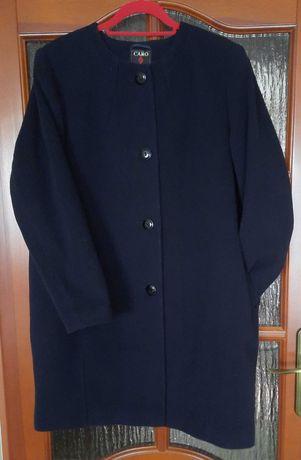 Wełniany plaszcz oversize Caro fashion 46/48/XL. Idealny