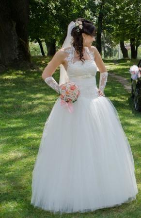 Продам свадебное платье размер S-M