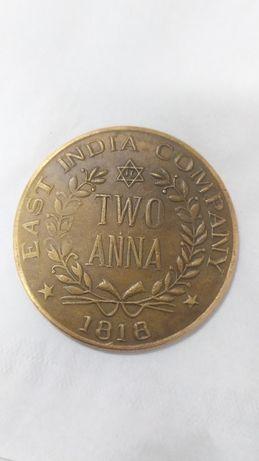 Индийская монета 1818г