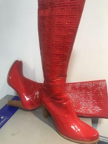 Сапоги Vivien Klein красные