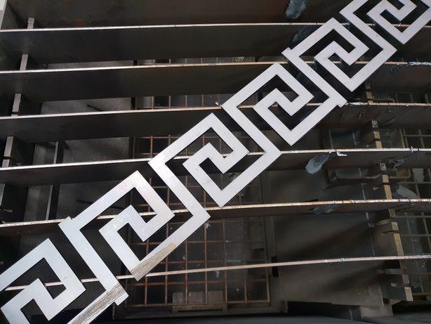 Wzór grecki do barierki, balustrady, bramy, metalowy CNC