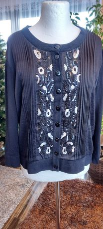 Sweter czarny rozpinany