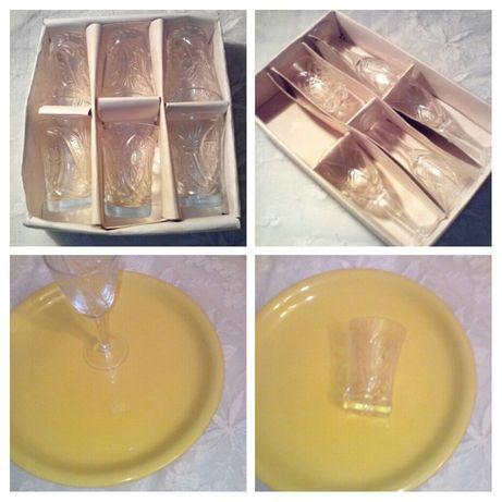 Продам хрустальные и стеклянные стопочки фужеры для водки коньяка