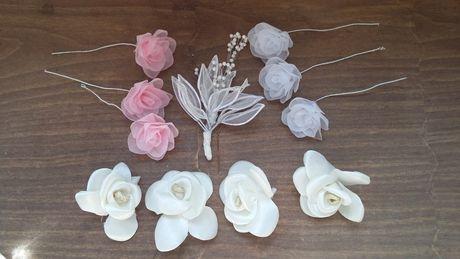 Цветы для волос (набор)