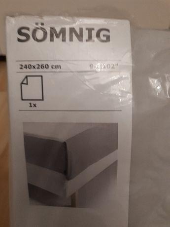 Nowe prześcieradło, pościel IKEA SOMNIG rozmiar 240x260