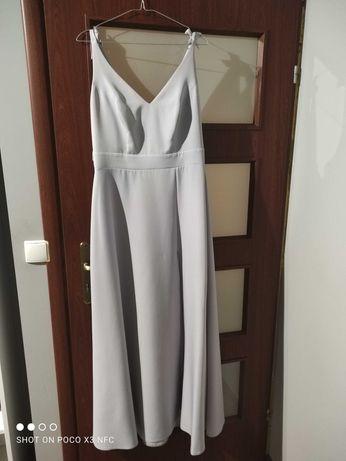 Sukienka wieczorowa szaro/srebrna