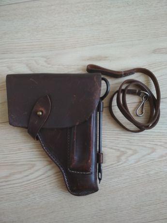 Кожаная кобура под пистолет Макарова (ПМ) с шомполом
