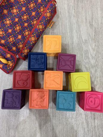 Развивающие силиконовые кубики Battat