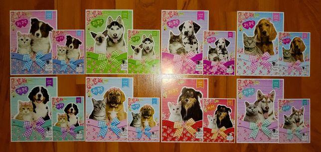 Karteczki Psy i Koty/Brokatowe - A5 i A6