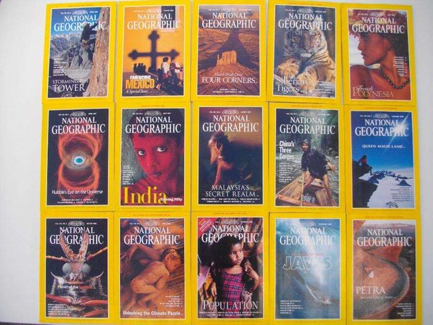 National Geographic: 31 revistas Americanas