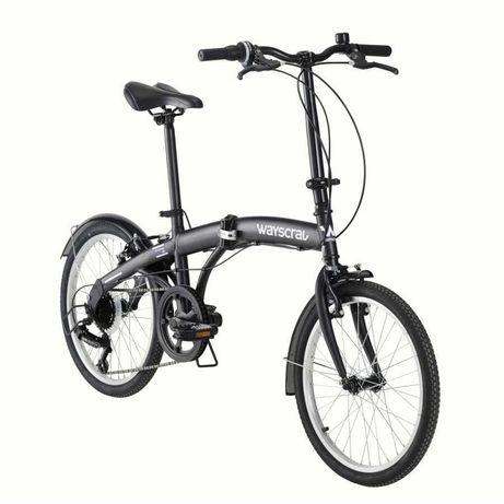 Bicicleta dobrável WAYSCRAL Takeaway 100 Preta