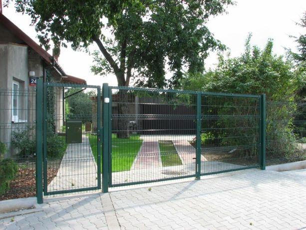Brama skrzydłowa, przesuwna. słupki ogrodzeniowe, siatka,panel,montaż