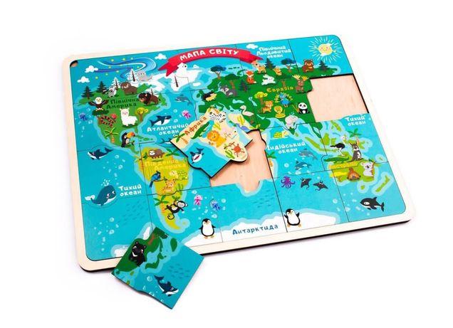 Розвиваючий пазл Мапа світу