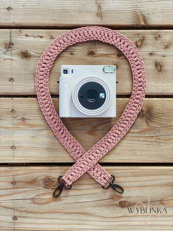 Pasek do aparatu makrama - różowe złoto