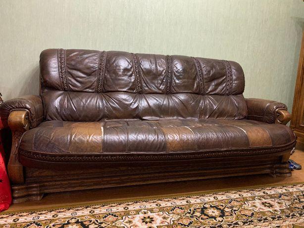 Продам кожану мебелб3+1+1