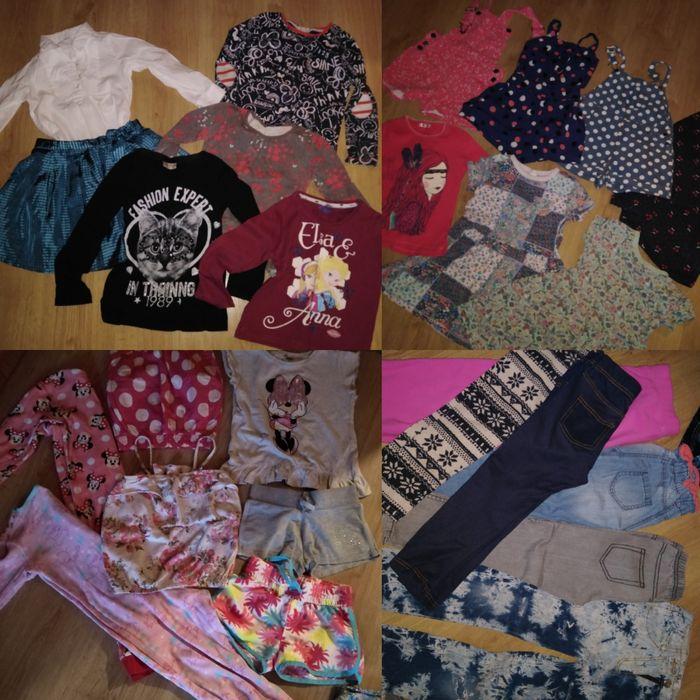 Zestaw paka 4-5 lat dziewczynka ciuszki bluzki spodnie spodenki 110 Czarnków - image 1