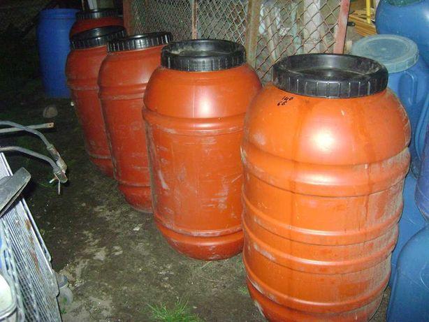 Sprzedaz beczek plastikowych 220-litrowe po spozywce-90zl