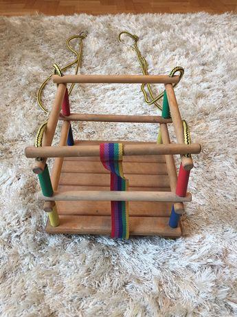 Huśtawka drewniana dla dziecka w wieku 10 -24 miesięcy