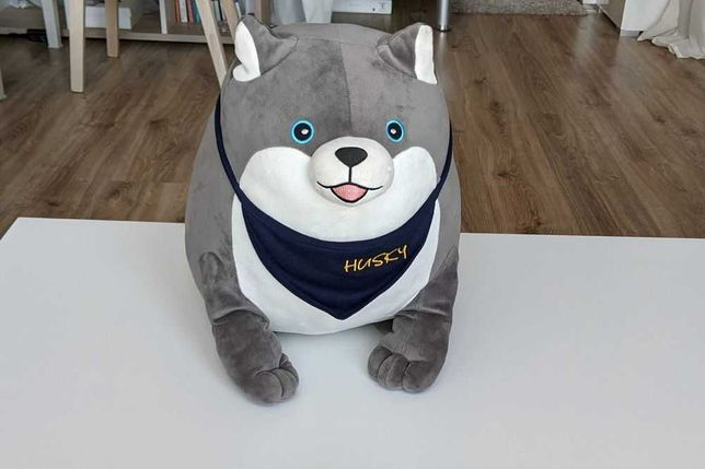 Мягкая игрушка эксклюзив из Тайланда щенок собака Xаски 50х40х30см