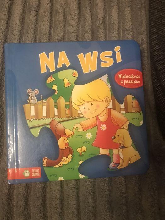 Książeczka książka zielona sowa na wsi maluszkowo z puzzlami Wrocław - image 1