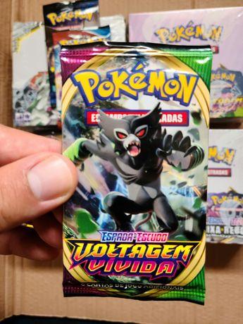 Pokémon Espada e Escudo Voltagem Vivida Boosters PT selados