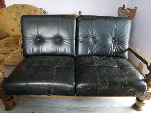 2 dębowe kanapy i 1 fotel OKAZJA