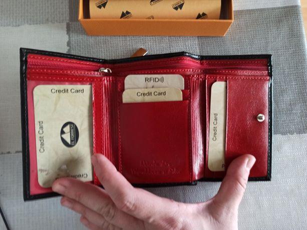 Sprzedam portfel Giorgio Bassani skóra nowy