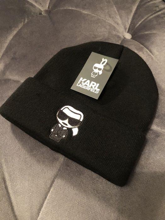 Czarna czapka Karl Lagerfeld Kraków - image 1