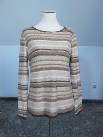 Beżowy sweterek w paski C&A