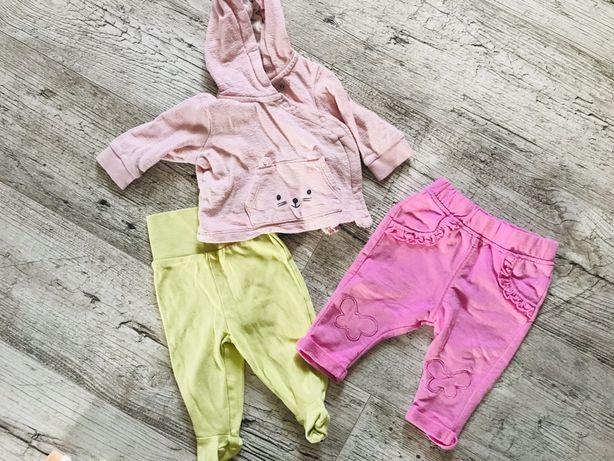 Zestaw H&M bluza, spodnie, półśpiochy 56/62