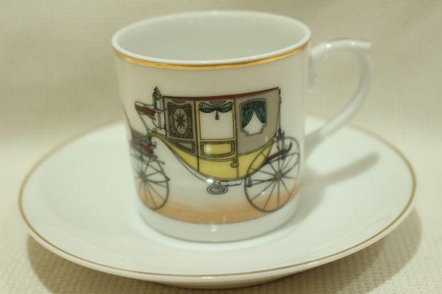 Chávena Café Vista Alegre Motivo Coche Amarelo 1947