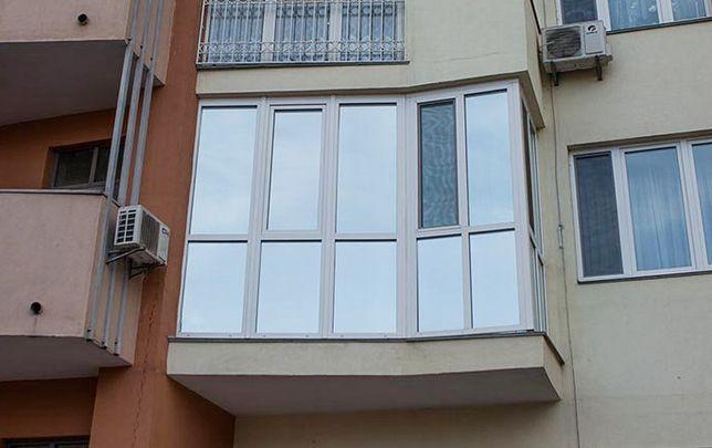 Зеркальная тонировка пластиковых окон. Поклейка солнцезащитной пленки