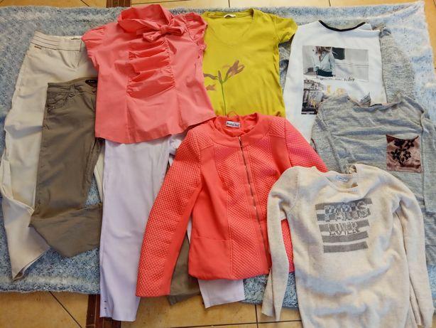 Paka ubrań 38 40 kurtka spodnie bluzki