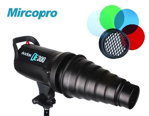 Тубус для вспышки Mircopro с сотами и фильтрами SN-303 (Новый) BOWENS
