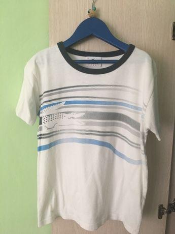 Bluzeczka Lacoste t-shirt biała koszulka 122 134 na 5- 6 lat unikat