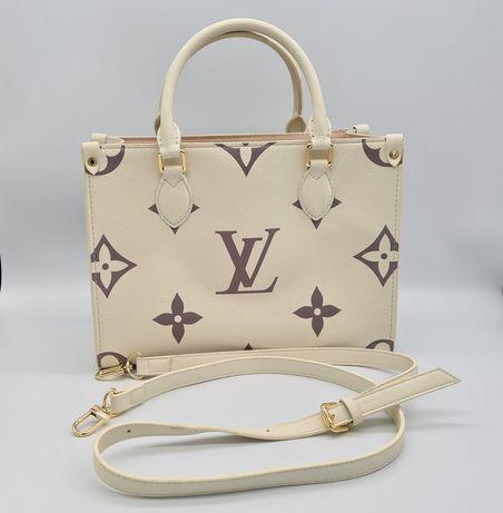 Женская кожаная сумка тоут LV. Сумка -Тоут Onthego Louis Vuitton