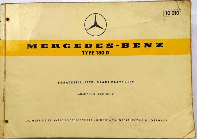 Mercedes - Benz Type 180 D - 1959 Katalog