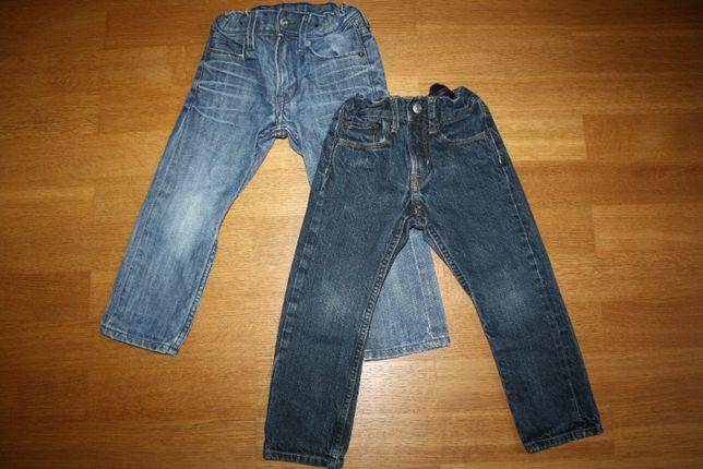 Zestaw spodni dżinsowych H&M rozm. 98 2szt.+gratis bluzki